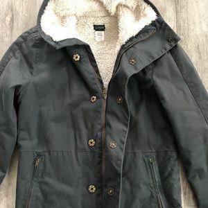 J. Crew Vintage Sherpa Lined Jacket